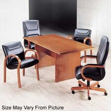 "Contempory 96"" W Rectangular Veneer Conference Table"