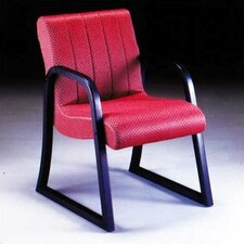<strong>High Point Furniture</strong> Scoop Guest Arm Chair with Channel Style Back