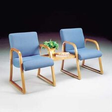 Scoop Ganging Three Guest Arm Chair with Sled Base