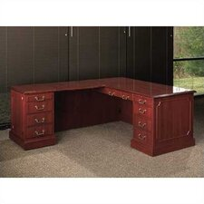 <strong>High Point Furniture</strong> Bedford L-Shaped Executive Desk Office Suite