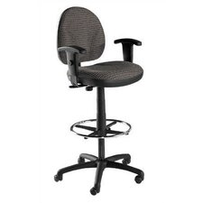 Height Adjustable Task Armchair with Footring
