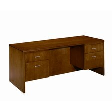Forte 3/4 Pedestal Computer Credenza with Drawer
