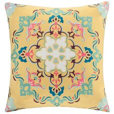 Medallion Embroidered Square Throw Pillow