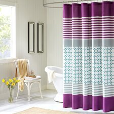 Lacey Polyester Shower Curtain