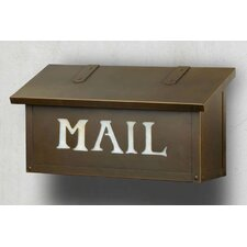 """Classic with """"Mail"""" Horizontal Wall Mounted Mailbox"""