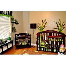 <strong>DK Leigh</strong> Polywog Pond 10 Piece Boutique Frog Crib Bedding Set