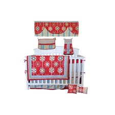 Red Graphic Floral 10 Piece Boutique Crib Bedding Set