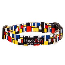 Mondrian Inspiration Fashion Dog Collar