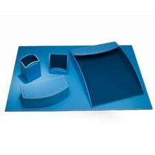 5 Piece Leatherette Desk Set