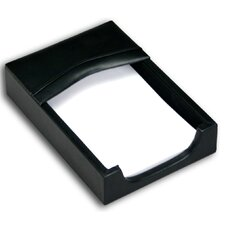 <strong>Dacasso</strong> 1000 Series Classic Leather Memo Holder in Black