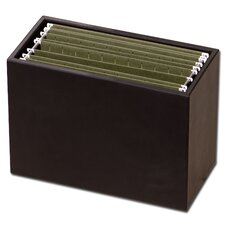<strong>Dacasso</strong> 1000 Series Classic Leather Hanging File Folder Box in Black