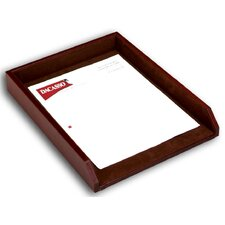1000 Series Classic Leather Front-Load Letter Tray in Mocha