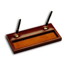 <strong>Dacasso</strong> 1000 Series Classic Leather Double Pen Stand in Mocha