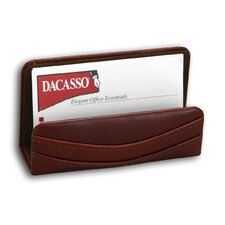 <strong>Dacasso</strong> 1000 Series Classic Leather Business Card Holder in Mocha
