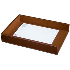 3200 Series Leather Front-Load Legal Tray in Rustic Brown