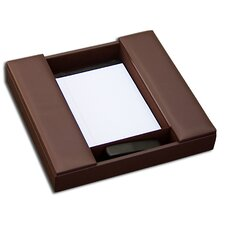 1000 Series Classic Leather Conference Room Organizer in Chocolate Brown