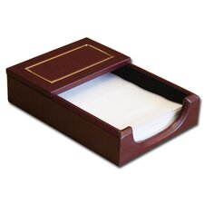 5000 Series 24kt Gold Tooled Leather 4 x 6 Memo Holder in Burgundy