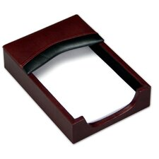 <strong>Dacasso</strong> 7000 Series Contemporary Leather 4 x 6 Memo Holder in Burgundy