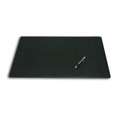 1000 Series Classic Leather 24 x 19 Desk Mat without Rails in Black