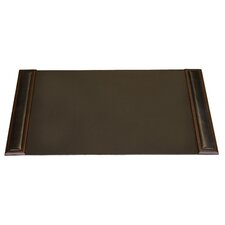 8000 Series Walnut and Leather 34 x 20 Desk Pad