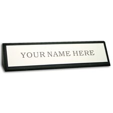 <strong>Dacasso</strong> 1000 Series Classic Leather Name Plate in Black
