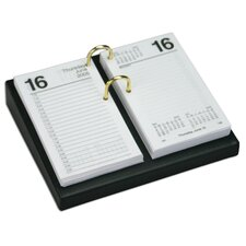 <strong>Dacasso</strong> 1000 Series Classic Leather 4.5 x 8 Calendar Holder Base in Black