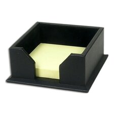 1000 Series Classic Leather 3 x 3 Note Holder in Black