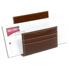 <strong>Dacasso</strong> 3200 Series Leather Letter Holder in Rustic Brown
