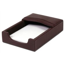 1000 Series Classic Leather  4 x 6 Memo Holder in Chocolate Brown