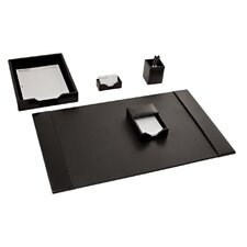 Econo-Line Leather 5 Piece Desk Set