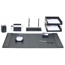 <strong>Dacasso</strong> Leather 10-Piece Desk Set