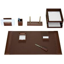 Leather 10-Piece Desk Set