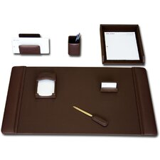 Leather 7-Piece Desk Set