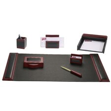 <strong>Dacasso</strong> Leather 7-Piece Desk Set