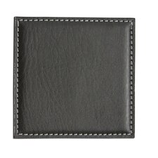 <strong>Dacasso</strong> Leatherette Low Profile Coaster