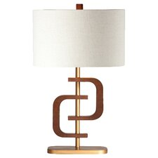"""Wood Wonder Coco Ring 30"""" H Table Lamp with Rectangle Shade"""