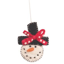 Smiley Snowman Ornament