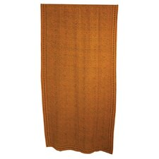 Block Leaves Curtain Single Panel