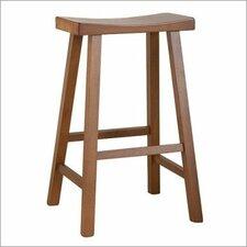 "24"" Saddle Seat Bar Stool (Set of 2)"