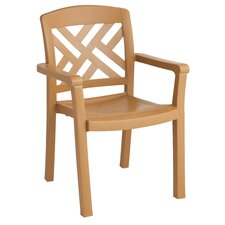 <strong>Grosfillex Commercial Resin Furniture</strong> Sanibel Dining Arm Chair