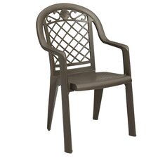 <strong>Grosfillex Commercial Resin Furniture</strong> Savannah Stacking Dining Arm Chair