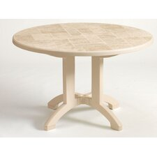 <strong>Grosfillex Commercial Resin Furniture</strong> Siena Dining Table