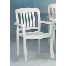 <strong>Grosfillex Commercial Resin Furniture</strong> Atlantic Dining Arm Chair