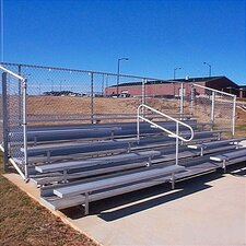 5 Row Angle Frame Bleachers with Aisle