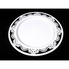 Grace 29cm Metal Plate in White