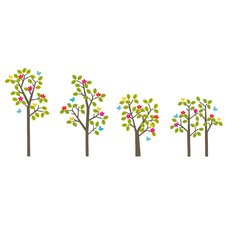 Seasons Tree Wall Decal 38 Piece Set