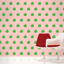Apple Wallpaper in Pink and Green