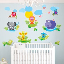 French Bull Jungle Wall Decal