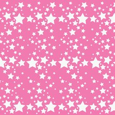 French Bull Starlight Wallpaper in Rose