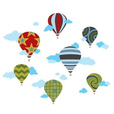 <strong>WallCandy Arts</strong> Hot Air Balloons Wall Decal